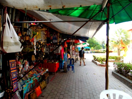 Small area of local shops
