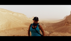 Hiking in the Saudi Arabian desert