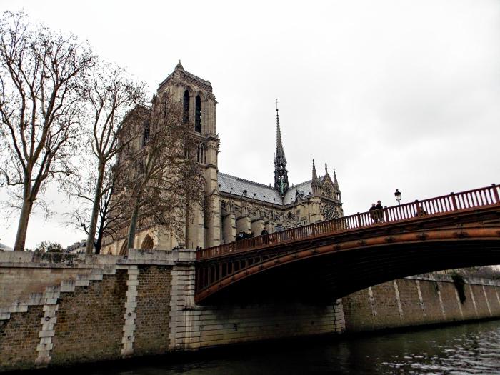 Notre Dame de Paris with bridge
