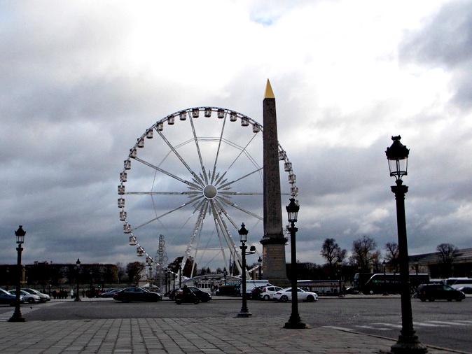 Roue de Paris. Ferris wheel of Paris