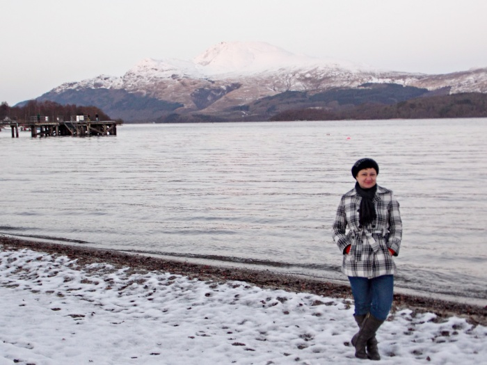 Me at Loch Lomond in the Scottish Highlands