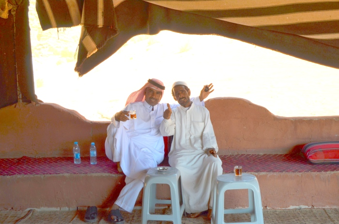 Tea with out Bedouin host
