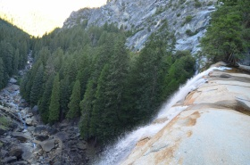 Standing above Vernal Falls, Yosemite