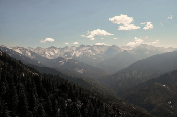 Sierra Nevada Mountains seen from Sequoia National Park