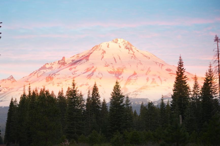 Morning light, Mt Shasta